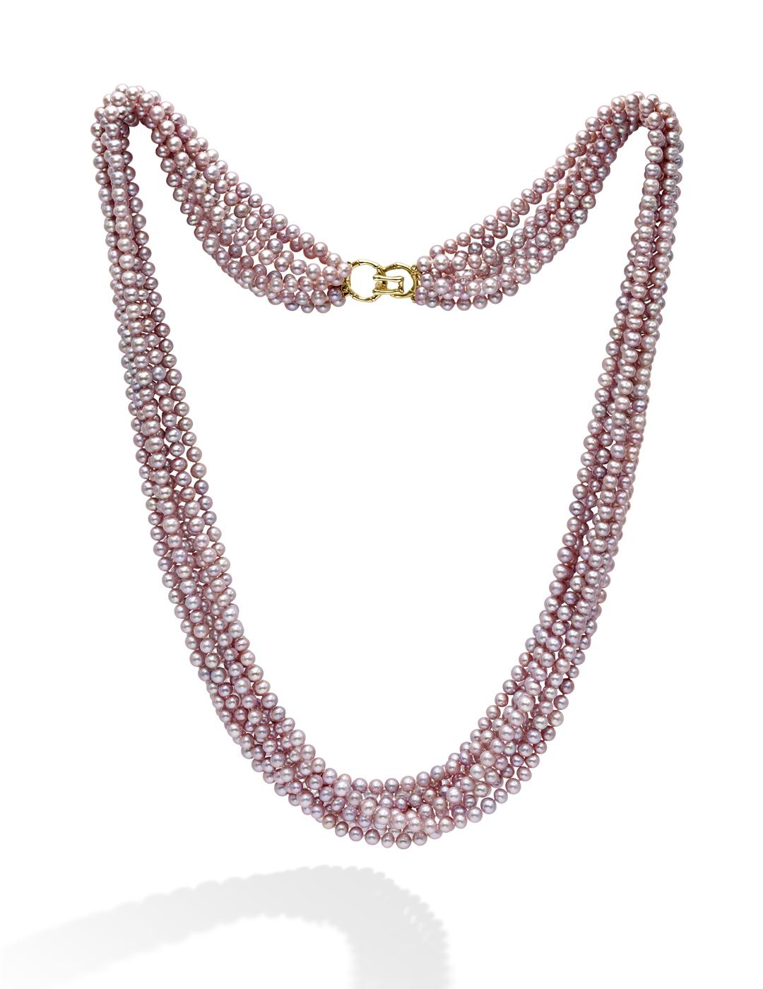 mish_necklaces_Pink Pearl-MultiStrnd-NK-1