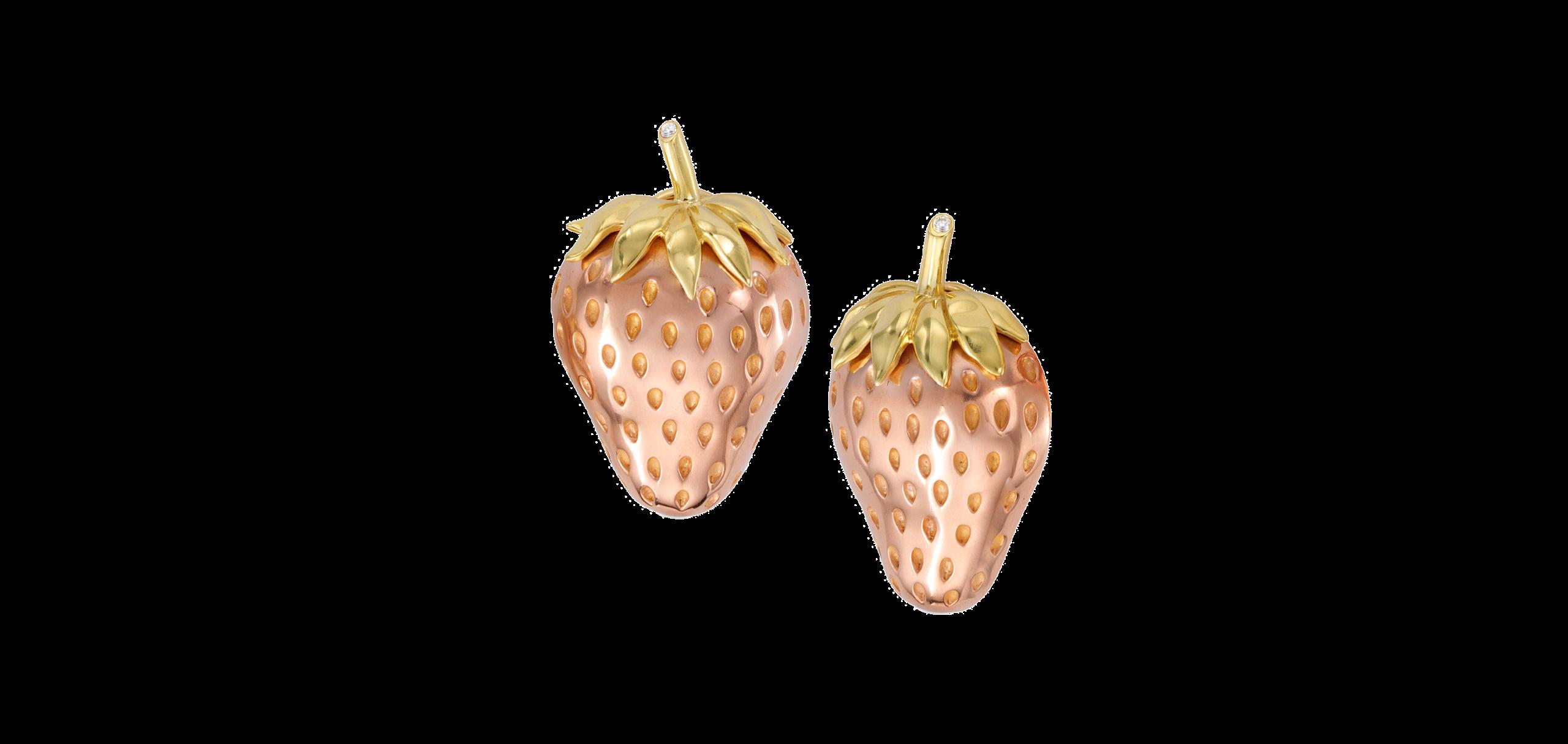 Strawberry-Fruit-Earclips